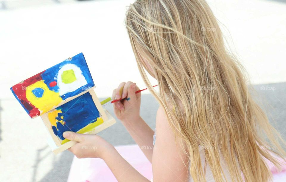 She loves to paint