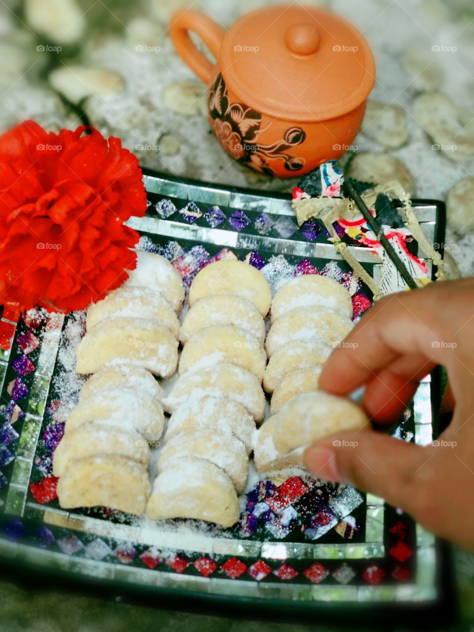 snow cookies Indonesia traditional