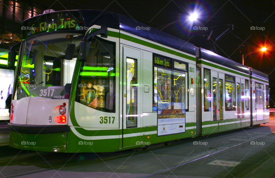 THE MELBOURNE CITY TRAM LINES MELBOURNE AUSTRALIA