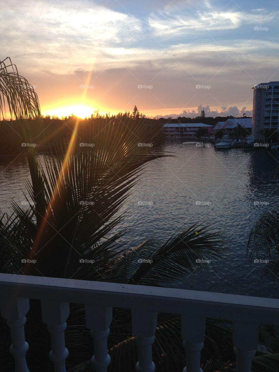 Sun set.  Bahamas