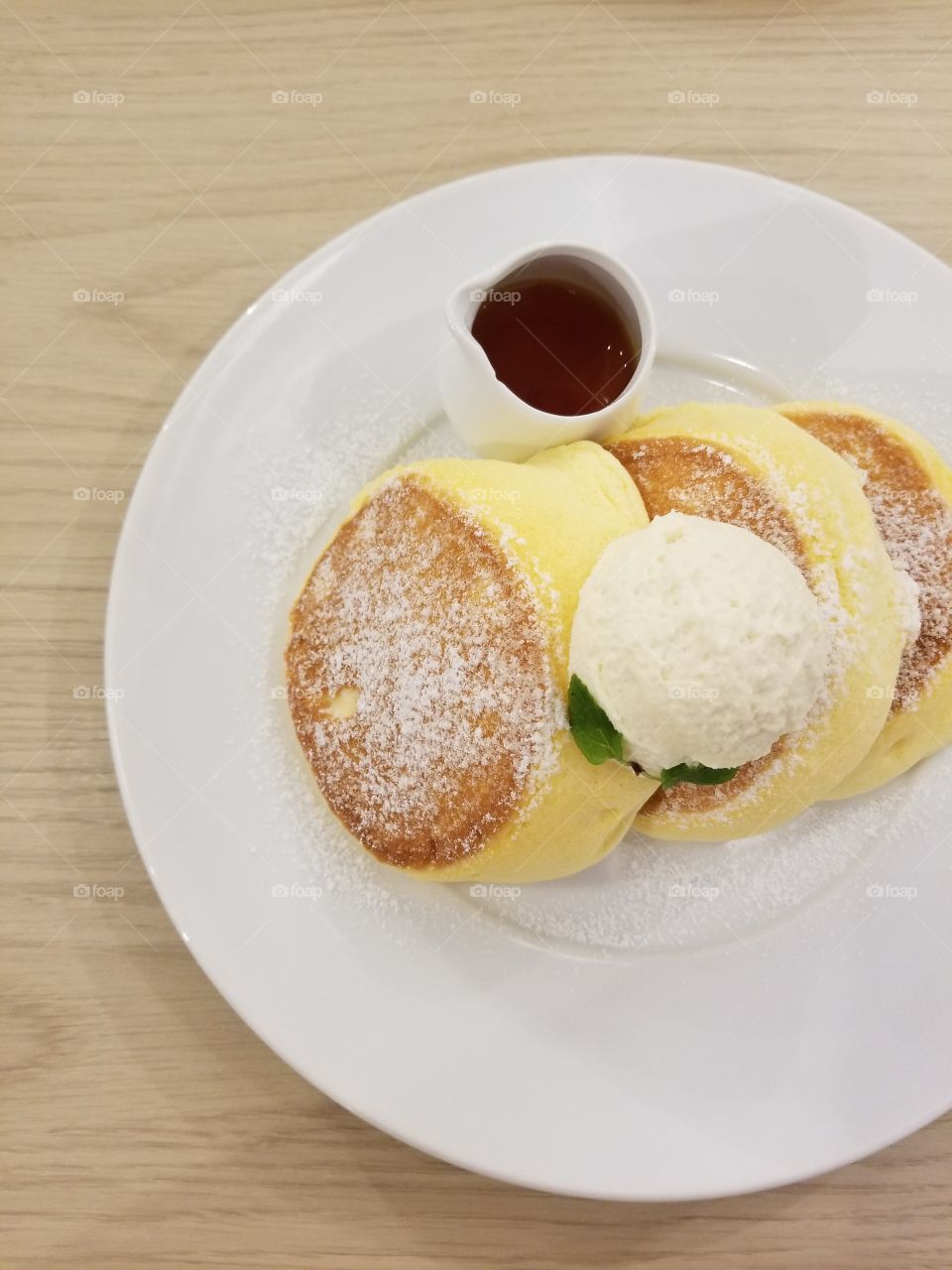 Japanese fluffy pancakes again delicious