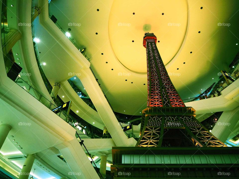 Eiffel tower in a mall