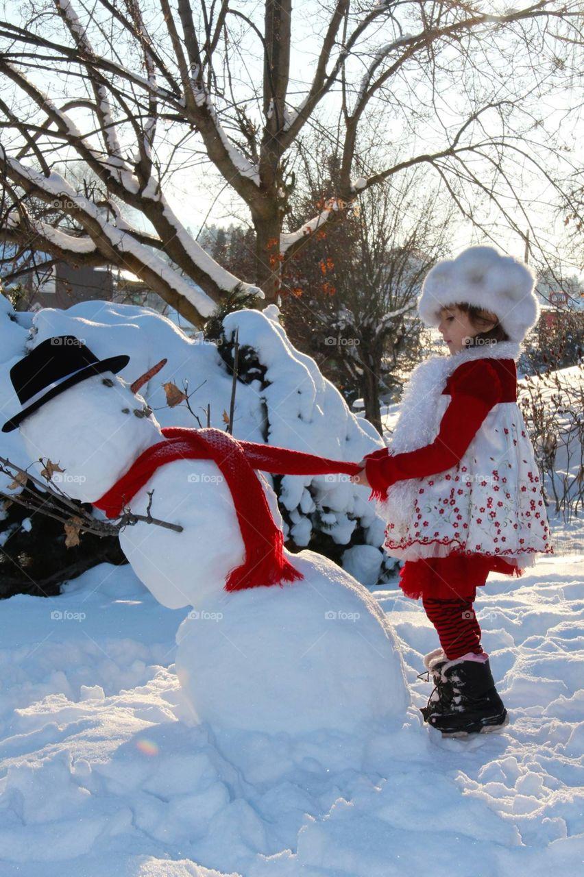 Snowman and Anne