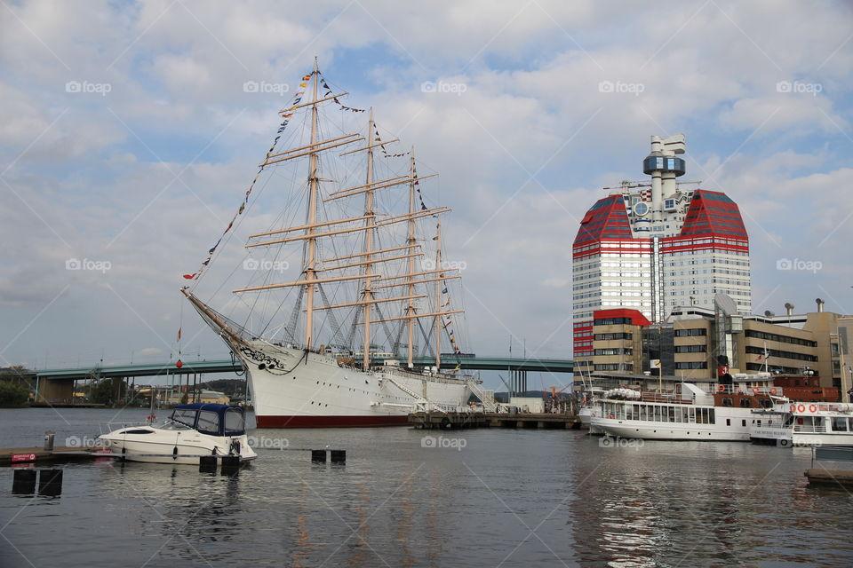 Lilla Bommen -part of Gothenburg harbor - Göteborg , Sweden Sverige