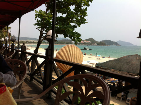 A view of the beach in Sanya, China.