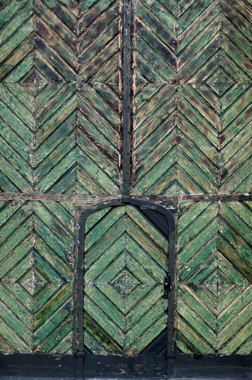 Green doors of Vienna
