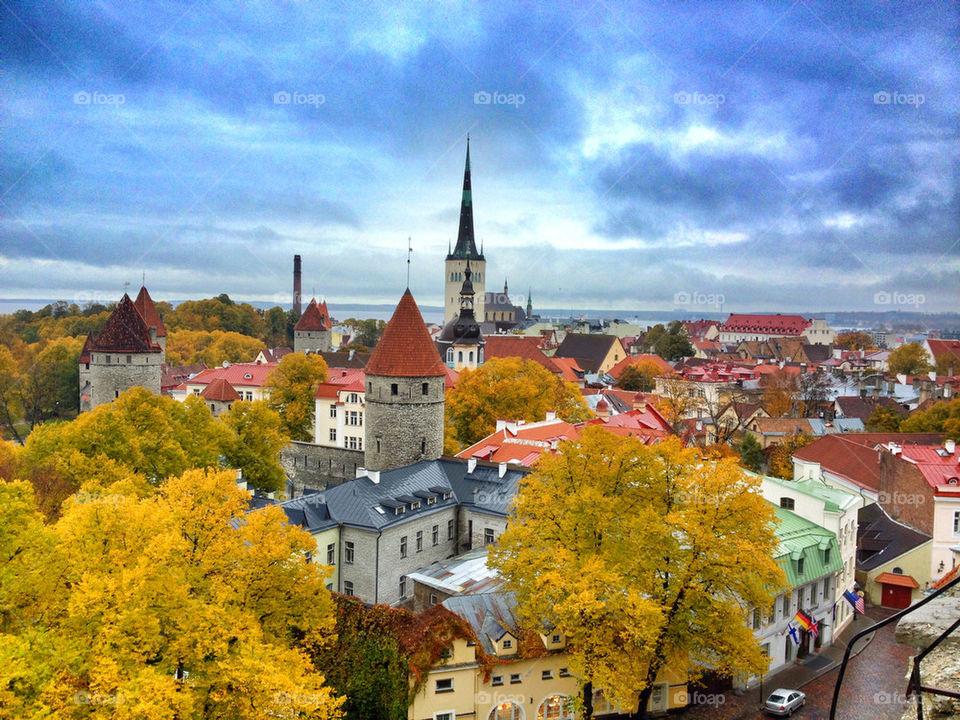 Scenic view of Tallinn, Estonia