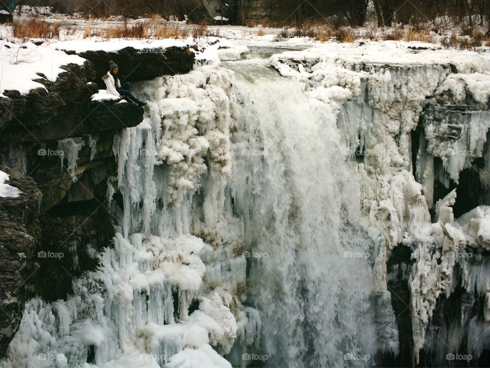 Icy waterfalls chilling