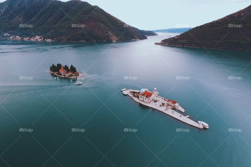 The islands of Kotor Bay