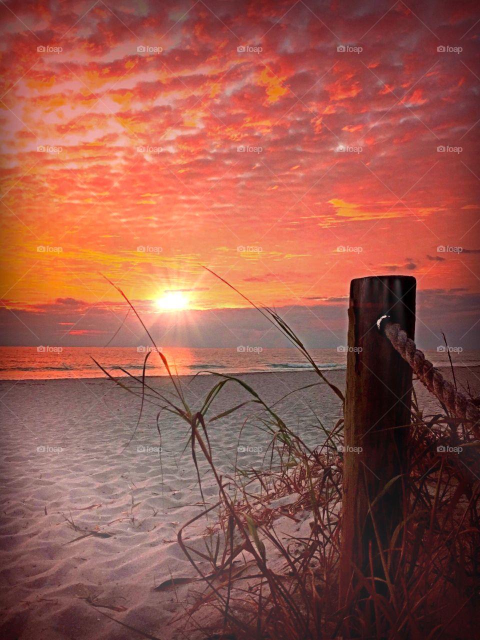 Beach sunset. Beach sunset