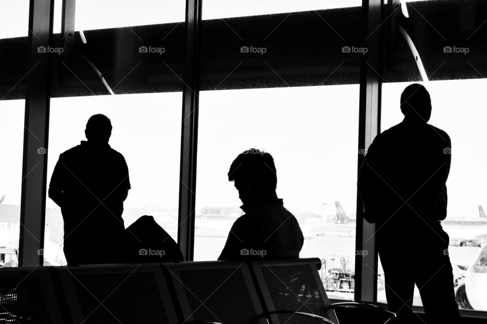 Travel Time B&W. Dublin Airport