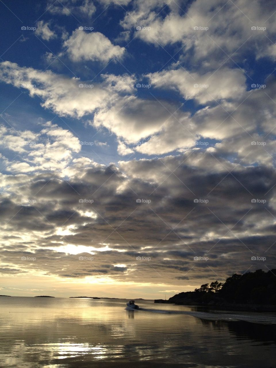 sky sweden sunset clouds by lemonique