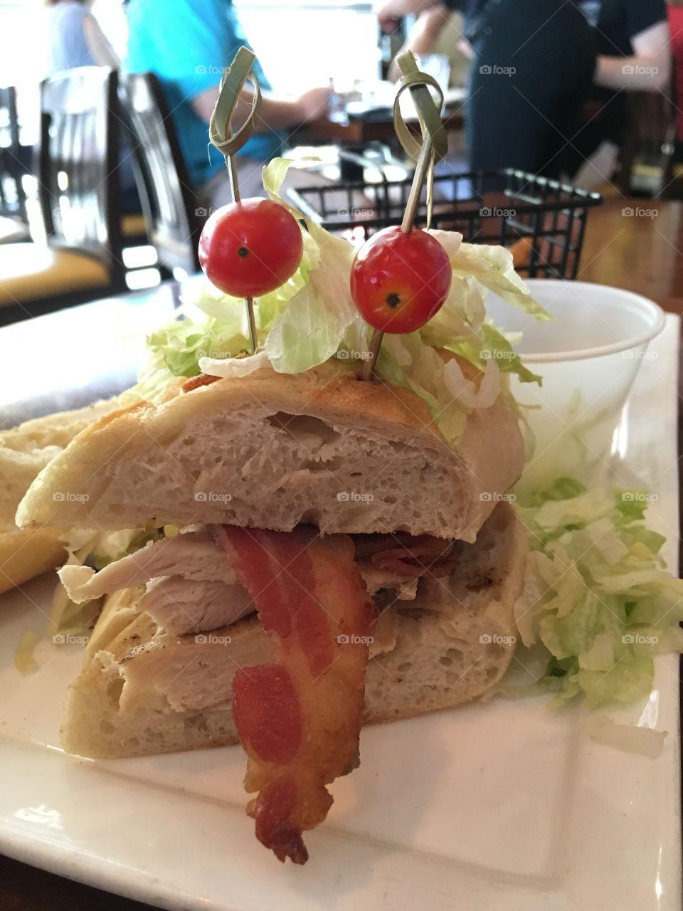 Let's eat this sandwich face