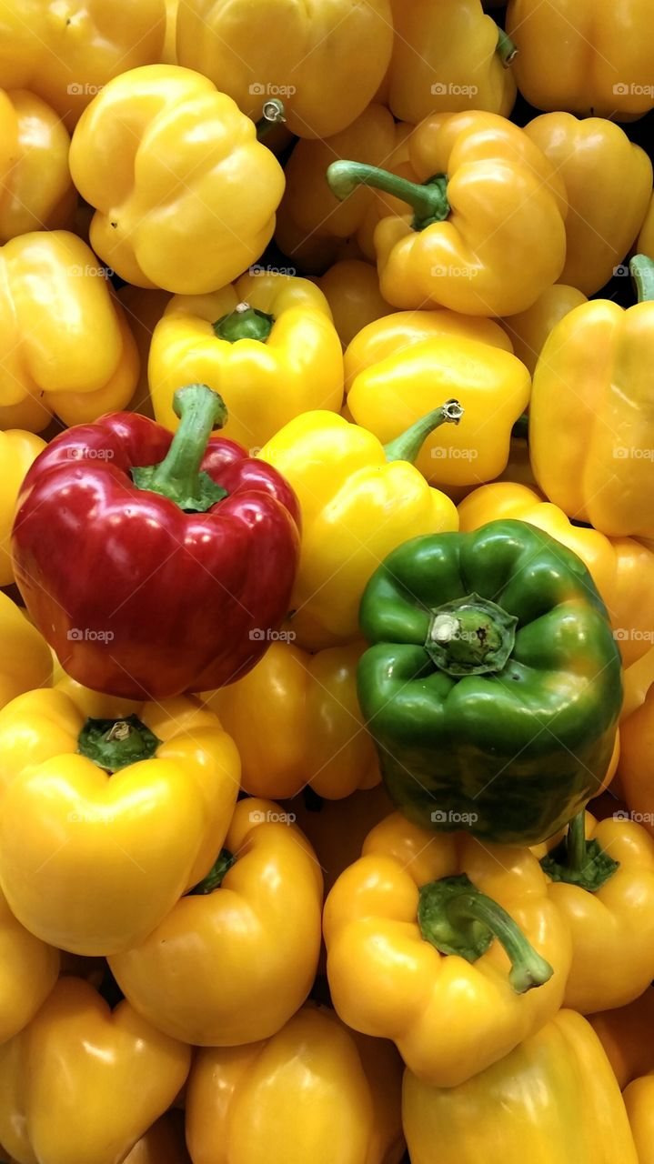 Colorful peppers background