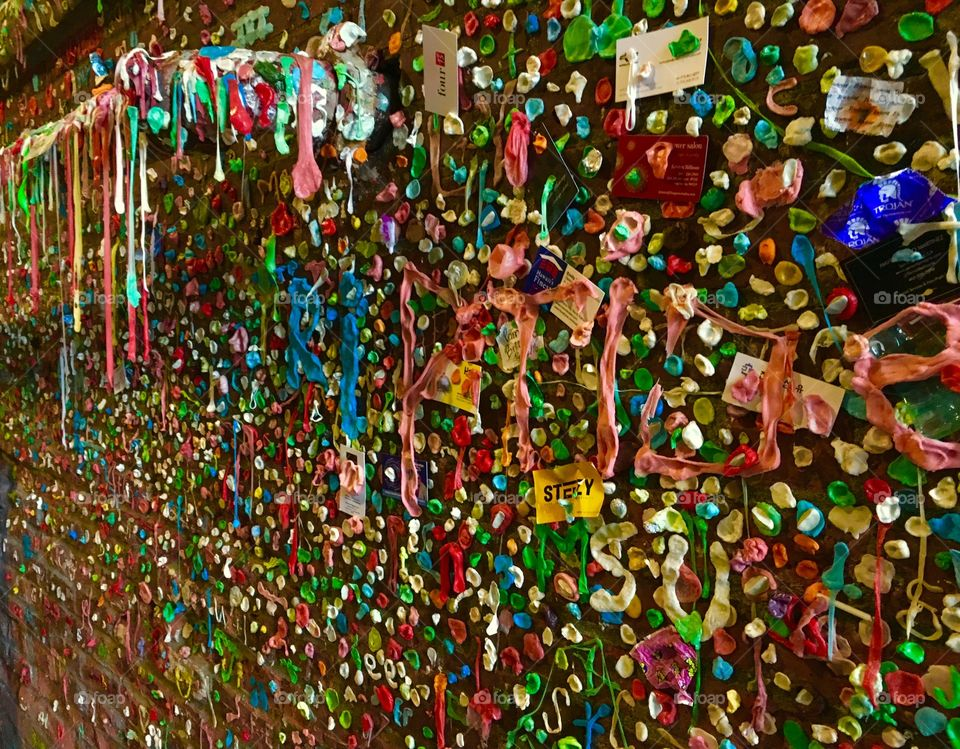 Gum Wall, Pike Place Market