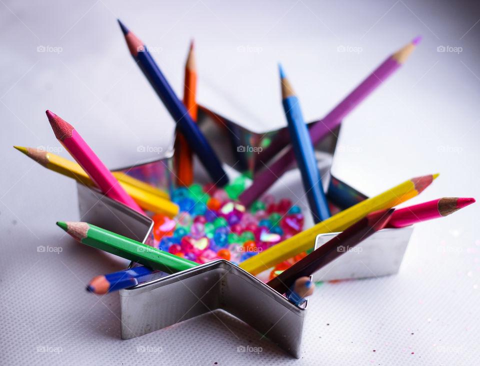 pencil pen crayon colorful