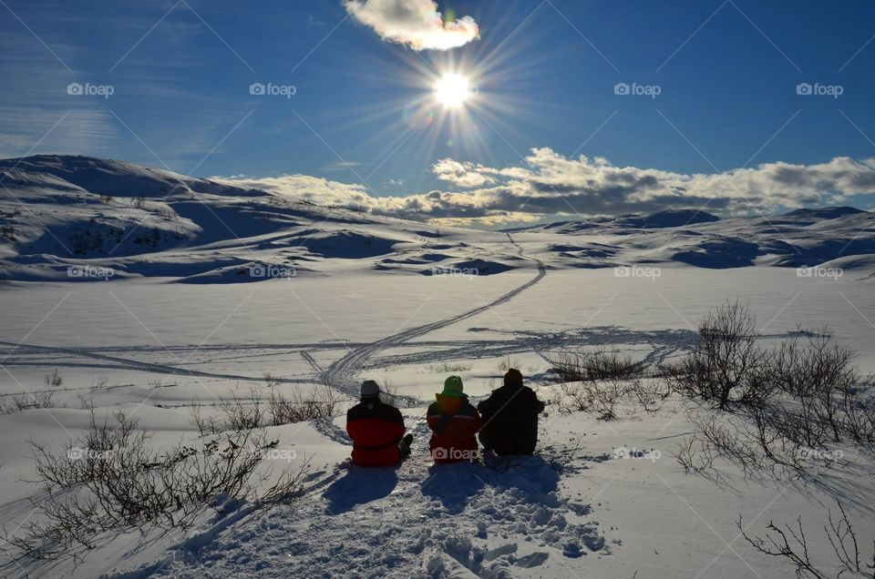 Winter with friends