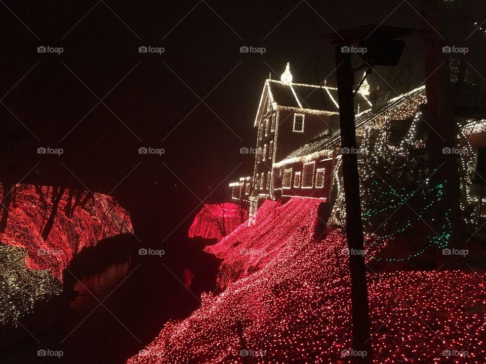 Clifton Mills Ohio Christmas light display 2015.