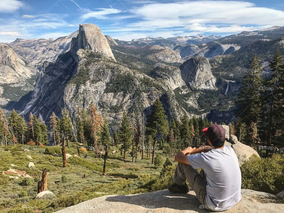 Looking out to Halfdome