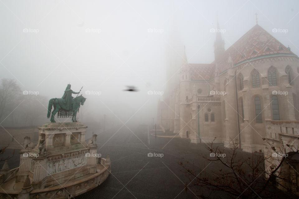 Fog throughout Budapest