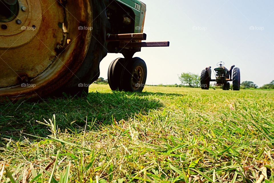 Tractors Low Angle