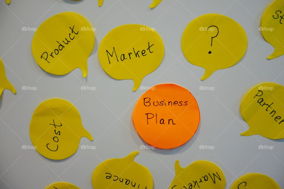 Creating a business plan requires many notes😀