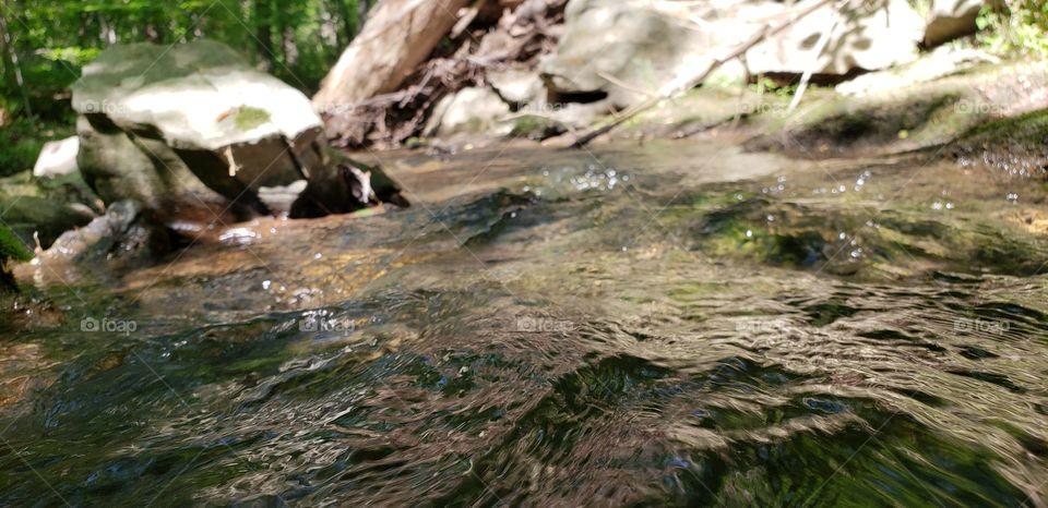macro in waterflow